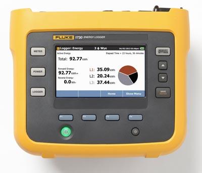 Registrador de energía eléctrica trifásico
