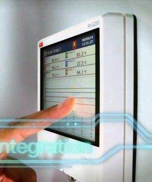 Grabador de datos con pantalla táctil