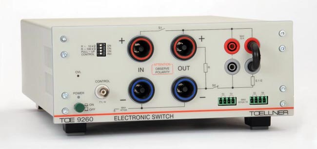 Switch electrónico para micro interrupciones en test