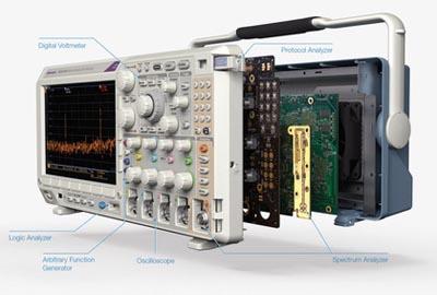 Osciloscopio con analizador de espectro