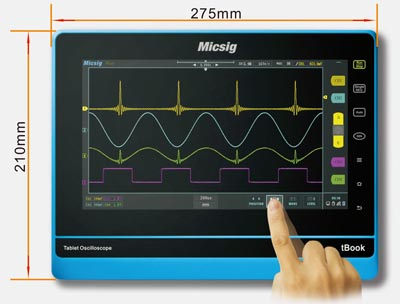 Osciloscopios en formato Tablet