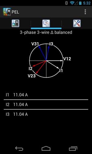 app para registradores de potencia y energía
