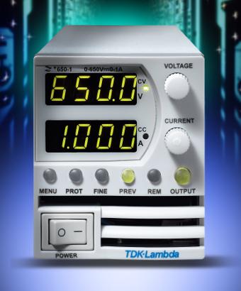 Fuentes de laboratorio programables hasta 650 Vdc