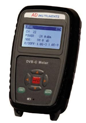 Medidor de campo DVB-C y analógico