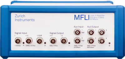 Amplificador lock-in con servidor de datos y web