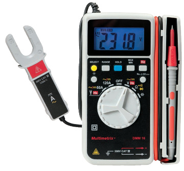 Multímetro digital de bolsillo con pinza de 120 A