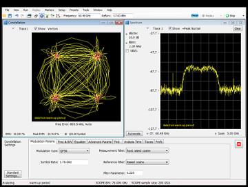 Osciloscopios con software de análisis de señal backhaul 5G