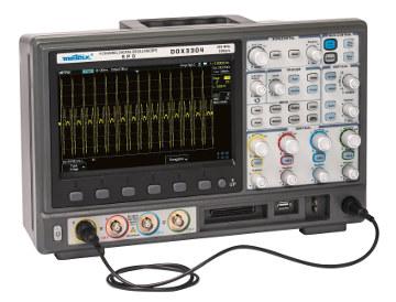 Osciloscopios digitales con 4 canales