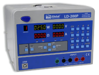 carga electrónica programable de 200 W