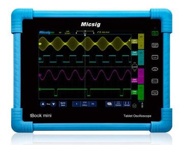 Osciloscopio rugerizado en formato tablet