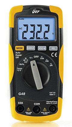 Multímetro digital CatIII hasta 600 V