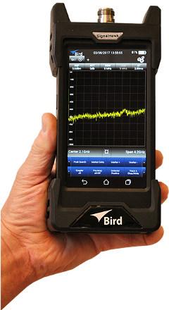Analizador de espectro portátil con autonomía