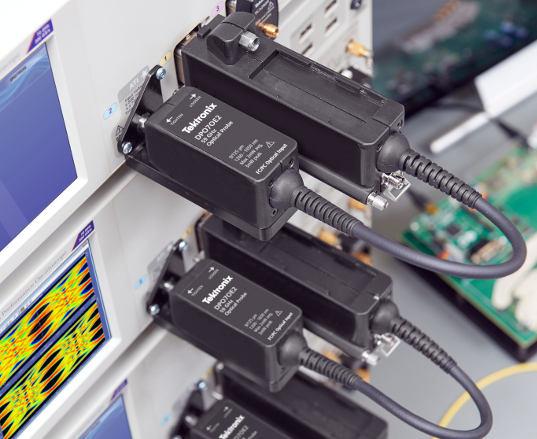 Sonda óptica para osciloscopios en tiempo real