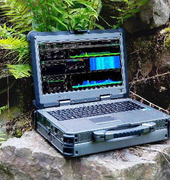 Analizador de espectro rugerizado y portable