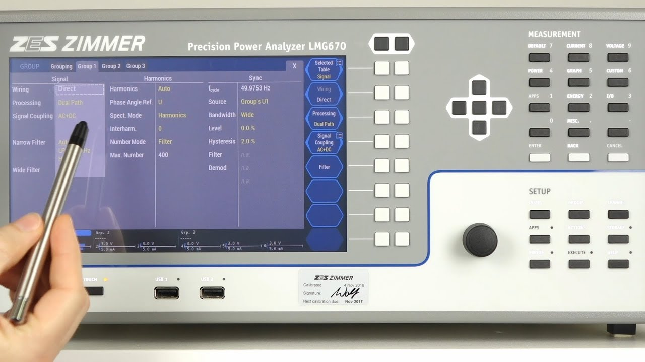 Analizador de potencia de precisión