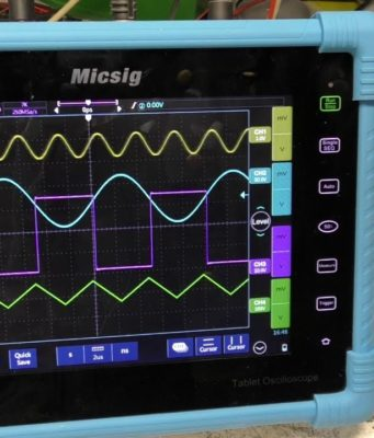 Osciloscopio digital de 4 canales
