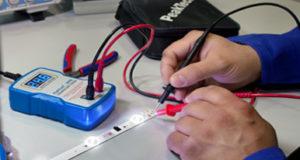 Tester de corriente para iluminación LED