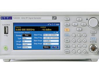 Generadores de señales RF con pantalla táctil