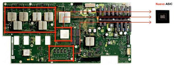 El altamente integrado Tek049 combina múltiples chips en un pequeño factor de forma.