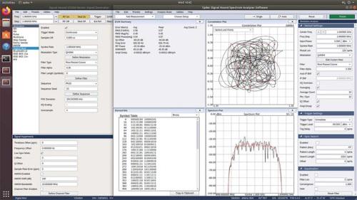 Software analizador de señal y generador de formas de onda