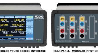 Analizador de potencia M2000 con pantalla táctil