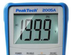 PeakTech 2005 A Multímetro digital AC/DC con menú