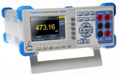 """PeakTech 4094 Multímetro de mesa con pantalla de 3.7"""""""