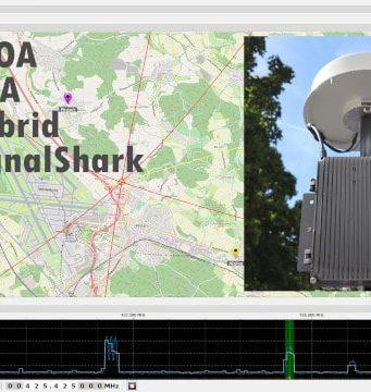 SignalShark monitoriza radiofrecuencias y radiolocalización TDOA/AOA