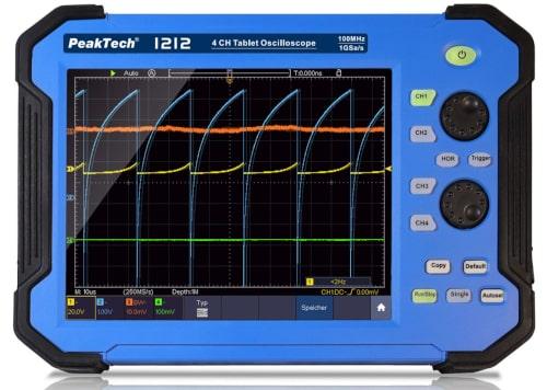 Osciloscopio PeakTech P 1212 en formato tablet
